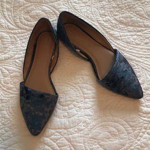 Who What Wear Velvet D'Orsay Flats Size 10